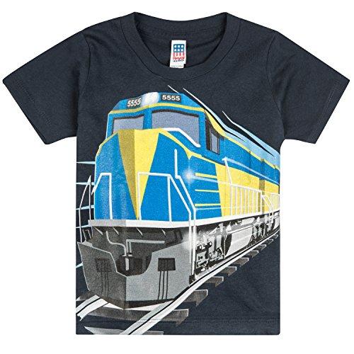 5b9c6668 Shirts That Go Little Boys' Diesel Train T-Shirt 2 Navy