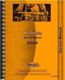 amazon com kubota b8200 tractor service manual 0739718106598 rh amazon com Kubota B9200 Tractor Engine Kubota B7100 4WD Diesel Tractor