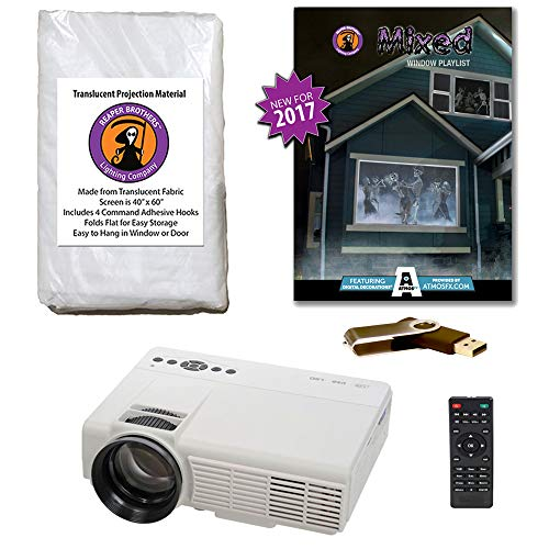 AtmosFearFX MIXED Compilation Video Projector Kit on USB. Includes effects from Bone Chillers, Ghostly Apparitions, Macabre Manor, Phantasms and Witching Hour ()