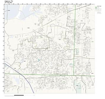 Amazoncom ZIP Code Wall Map of Hebron TX ZIP Code Map Not