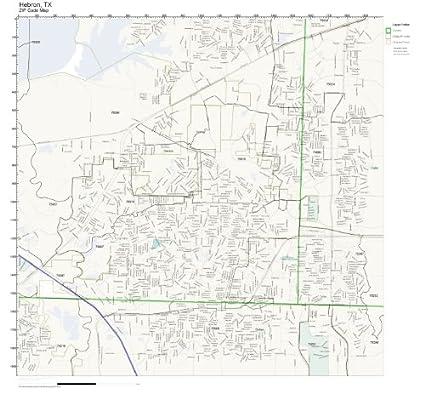 Amazon.com: ZIP Code Wall Map of Hebron, TX ZIP Code Map Not ...