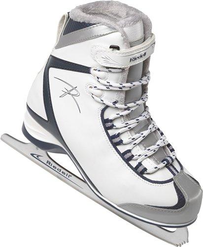 Riedell 625 SS Ladies Figure Skates - Size 10 Blue/White