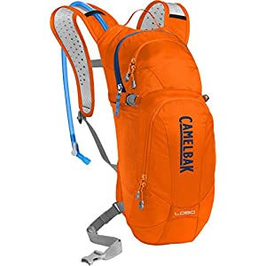 CamelBak Lobo Crux Reservoir Hydration Pack, Laser Orange /Pitch Blue, 3 L/100 oz