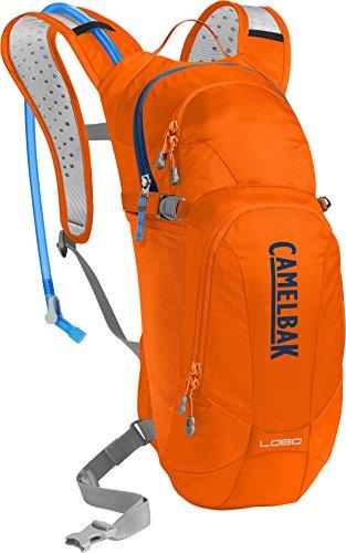 CamelBak Lobo Crux Reservoir Hydration Pack, Laser Orange/Pitch Blue, 3 L/100 oz