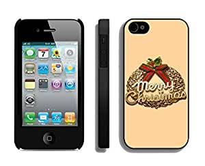 Iphone 4S Case,Christmas Olive Branch Silicone Black Case For Apple Iphone 4/Iphone 4s Cover Case