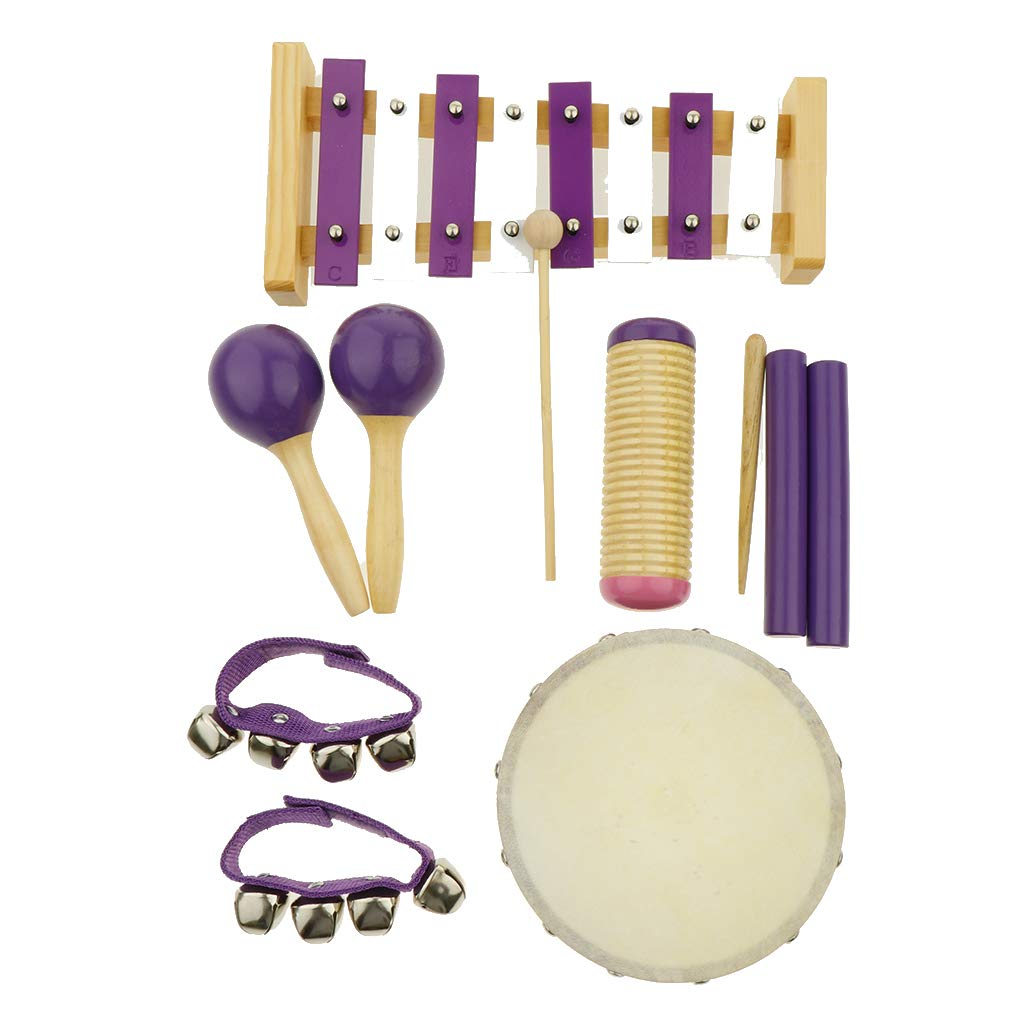 Flameer 11pcs Musical Instruments Toy Set for Toddler, Preschool and Children, 8 Kinds by Flameer (Image #3)