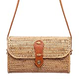 New Rattan Bags for Women - Handmade Wicker Woven Purse Handbag Circle Boho Bag Bali