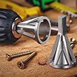 Blulu Deburring External Chamfer Tool, Deburring Drill Bit, Stainless Steel Remove Burr, Deburring Tool, Fit 8-32 (.164) Through 3/4 (.750)-10 Inch-(4 mm-19 mm) (1, Silver)