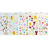 GGSELL GGSELL waterproof and non toxic 5pcs children cartoon temporary tattoos in one package, it's including love bears,cats,rabbits,rainbows,flowers,stars,heart,etc. temporary tattoos