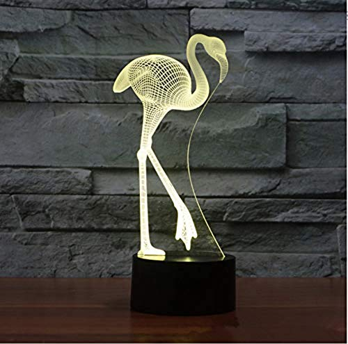 3D Acrylic Night Light Flamingo Bunte Acryl 3D Lampe Kreative USB Led Leuchten Des Nachtlichtes Halloween Geschenk 3D Led Kinder -