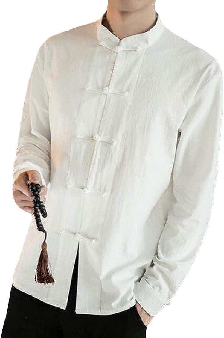 Twcx - Camisa de Vestir para Hombre, Estilo Chino, Informal, Retro, Talla Grande - - US XXX-Large: Amazon.es: Ropa y accesorios