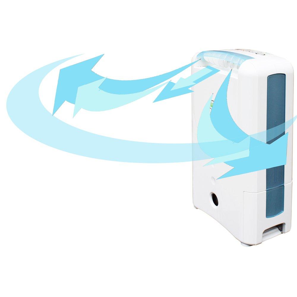 EcoAir DD122FW MK5 Classic D/éshumidificateur avec ionisateur et filtre argent 7 l//j