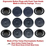 (Pack of 500) 3/4'' - 0.75 inch Black Rubber Plugs for Flush Mount Body and Sheet Metal Holes | High Grade Thermoplastic Rubber Made in USA | by CAPLUGS