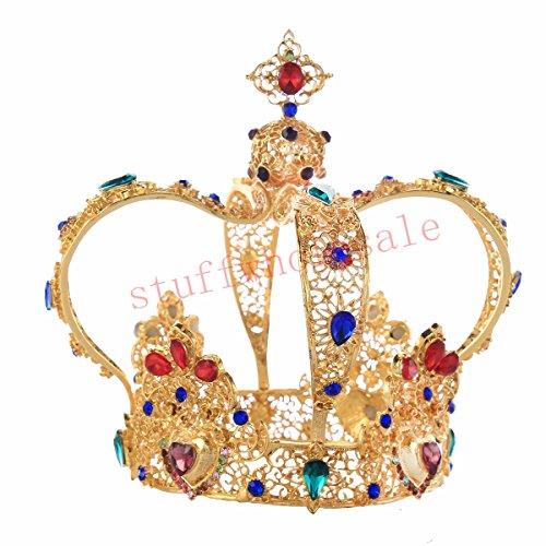 Stuffwholesale 5.5inch Gold Queen Tiara Mini Bun Tiara Wedding Party Crown by Stuffwholesale