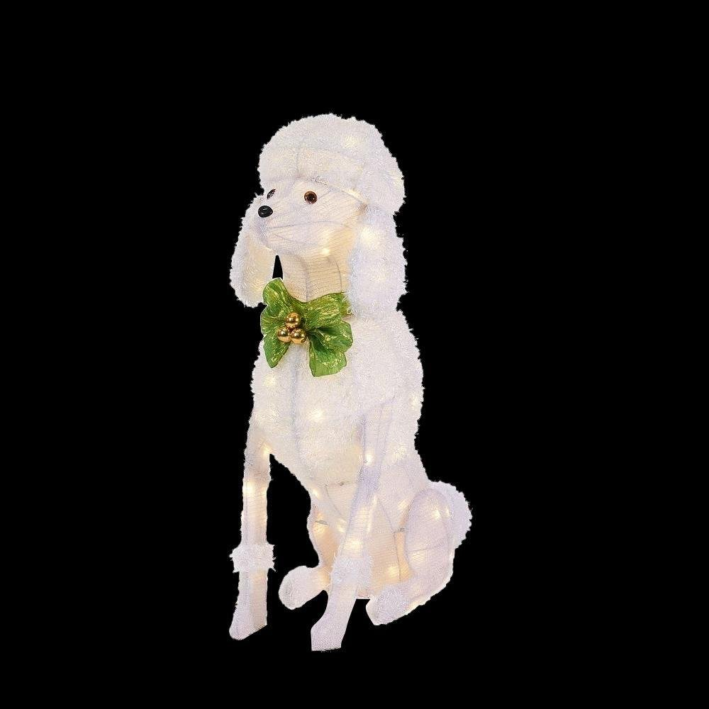 Home Accents Holiday 36 in. LED Lighted Sitting Poodle by Home Accents Holiday