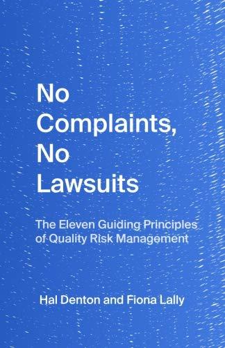 No Complaints, No Lawsuits: The Guiding Principles of Quality Risk Management