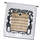3dRose fl_182535_1 Print of French Vintage Music Sheet with Fleur De Lis and Scrolls Garden Flag, 12 by 18-Inch Review