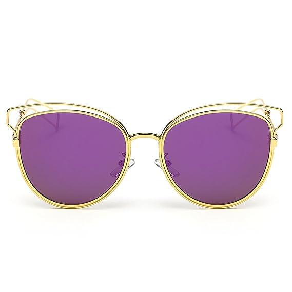 ishine Mujeres Calle Moda Ojos De Gato Gafas de Sol Espejo ...