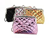 quilted small wallet - Oyachic 4 Packs Coin Purse Card Pouch Clasp Closure Quilted Wallet Christmas Birthday Gift 4.7