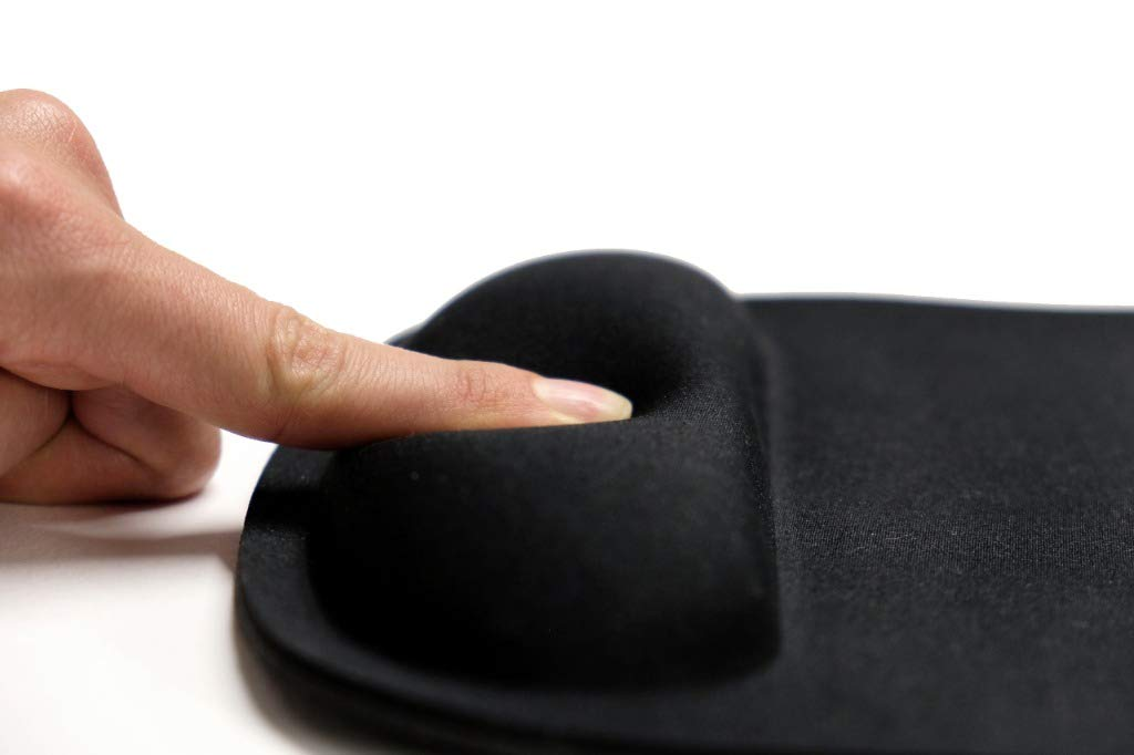 Ergonomisches Mauspad mit Handauflage Creadesk Premium Mousepad fransenfreie R/änder