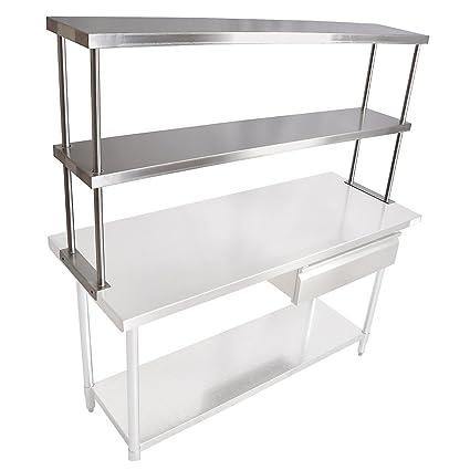 Used Stainless Steel Tables >> John Boos Stainless Steel Table Mounted Shelves 2 Shelves