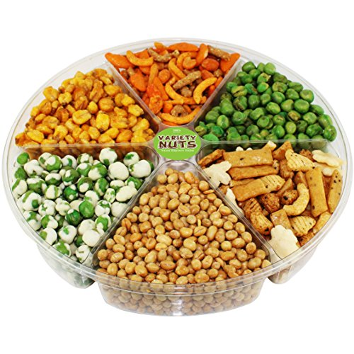 Premium Gourmet Nuts & Peas Assorted Gift Basket, Large Tray Fresh and Roasted. (Vegetable Gift Basket)