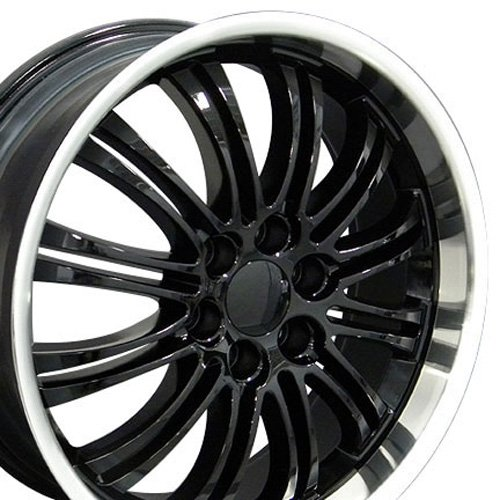 22x9 Wheel Fits GM Trucks & SUVs - Cadillac Escalade Style Black Rim w/Mach'd Lip, Hollander 5413