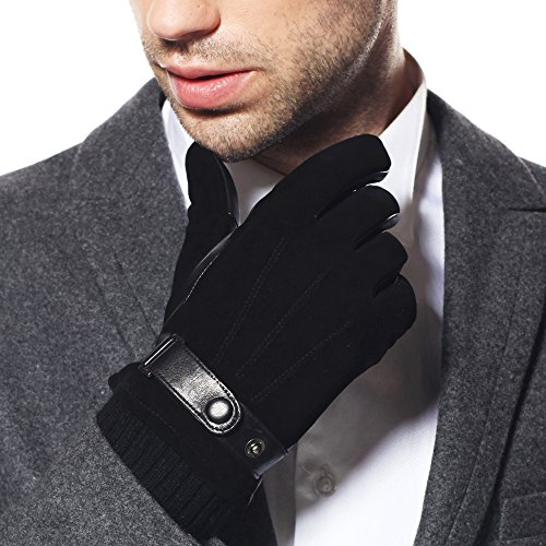 Warmen Men's Touch Screen Suede Leather Gloves Iphone Ipa...