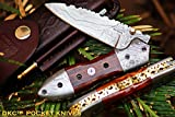 DKC-59 DARTMOUTH Damascus Folding Pocket Knife 4.5