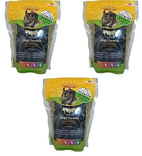 Sun Seed Sunscription Vita Degu Food, 28-Ounce (Pack of 3)
