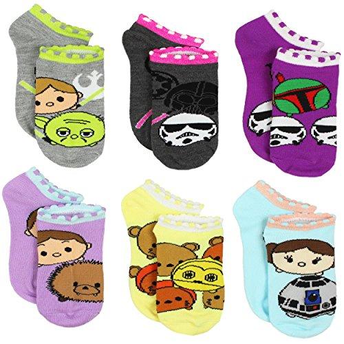 Tsum Tsum Star Wars Girls Womens 6 pack Socks (Little Kid