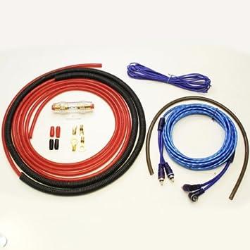Set Verstärker Endstufe Anschluss Kabel Chinch Sicherung Remote ...