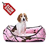 Cozypet Zone Realtree Heavey Duty /Rectangle/Removable/Washable/Washing/Non-slip /21x25''/27x36'' Puppy/Small/Medium/Lagre Dog, Pet Bed (AP-PINK(Pink 27x36''))-9911-2736- 1003