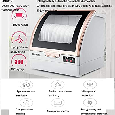 KASIQIWA Inteligente Lavavajillas Completamente automático ...