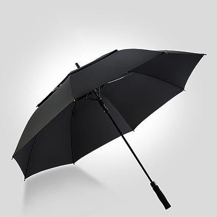 FKYS paraguas Hombre Mango largo Doble capa Resistencia al viento Bienvenida Doble Tres personas Al aire