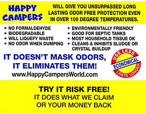 Happy Campers Organic RV Holding Tank Treatment - 18 therapies