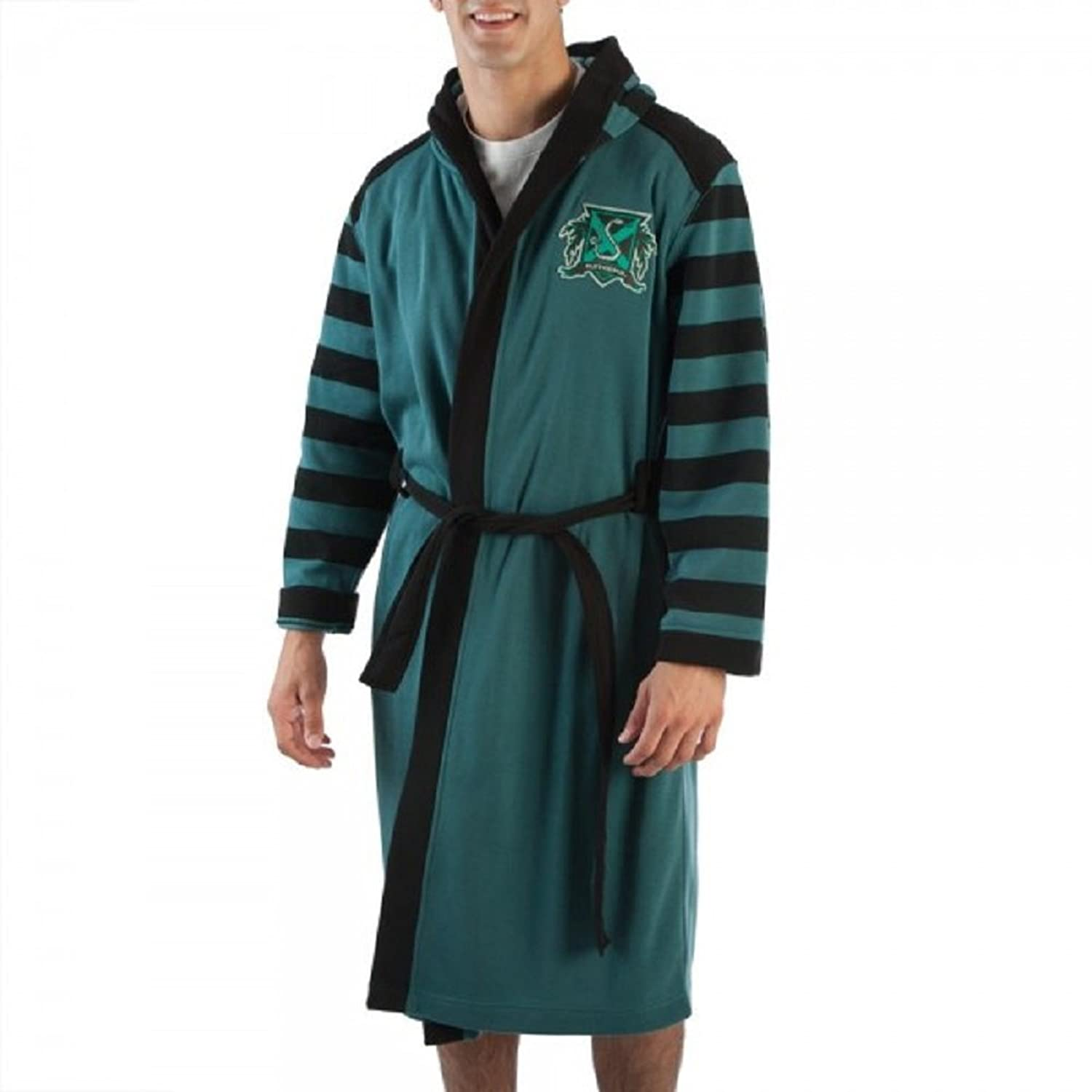 Amazon.com: Slytherin House Bath Robe from Harry Potter Adult Sizes ...