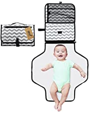 iZiv Portable Clean Hands Changing Pad, 3-in-1 Diaper Clutch, Changing Station, Diaper-Time Playmat with Redirection Barrier for Use with Infants, Babies and Toddlers