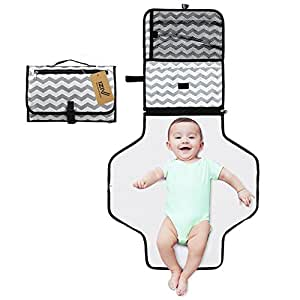 iZiv Baby Changing Pad, Baby Diaper Changing Station Folding Travel Changing Mat Portable Changing Bag Waterproof Changing Station Lightweight Change Bag Kit with Large Capacity for Storaging