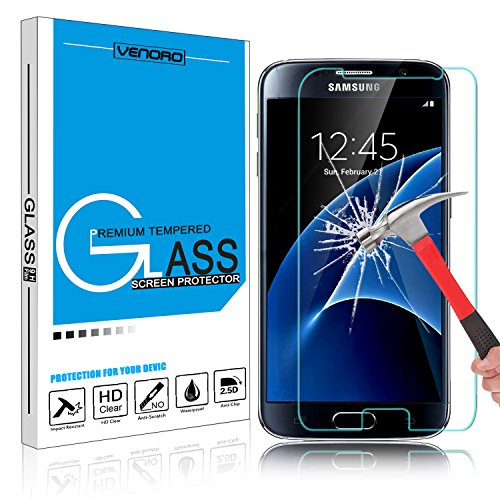Galaxy S7 Tempered Glass Screen Protector, HengTech (TM) HD Clear Oleophobic Coating Screen Film Guard for Samsung Galaxy S7 S VII G930 GS7 All Carriers with 9H Hardness (1 Pack)