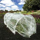 UniEco Grow Tunnel Garden Netting Tunnel Mini Greenhouse 236'' L x 24'' W x 18'' H