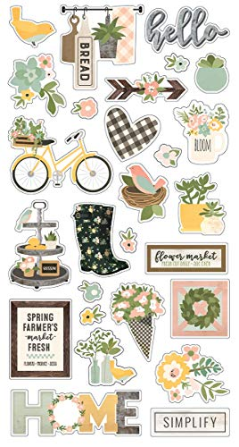 Spring Farmhouse Chipboard Stickers 6