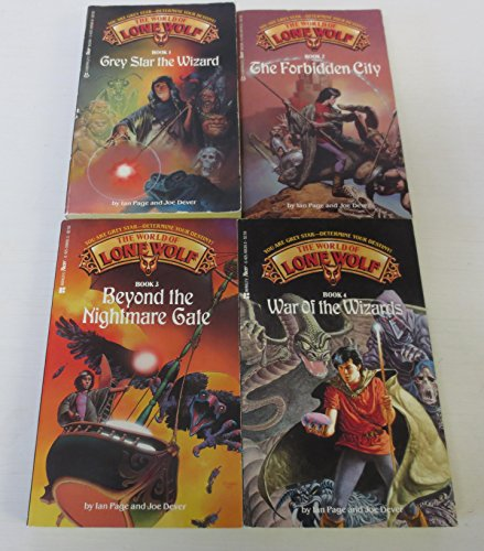 The World of Lone Wolf Set, Books 1-4: Grey Star the Wizard, The Forbidden City, Beyond the Nightmare Gate, War of the Wizards
