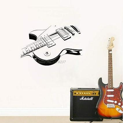 Guitarra eléctrica Etiqueta de La Pared de Vinilo Calcomanía Arte Decoración Del Hogar Salón Extraíble Instrumento