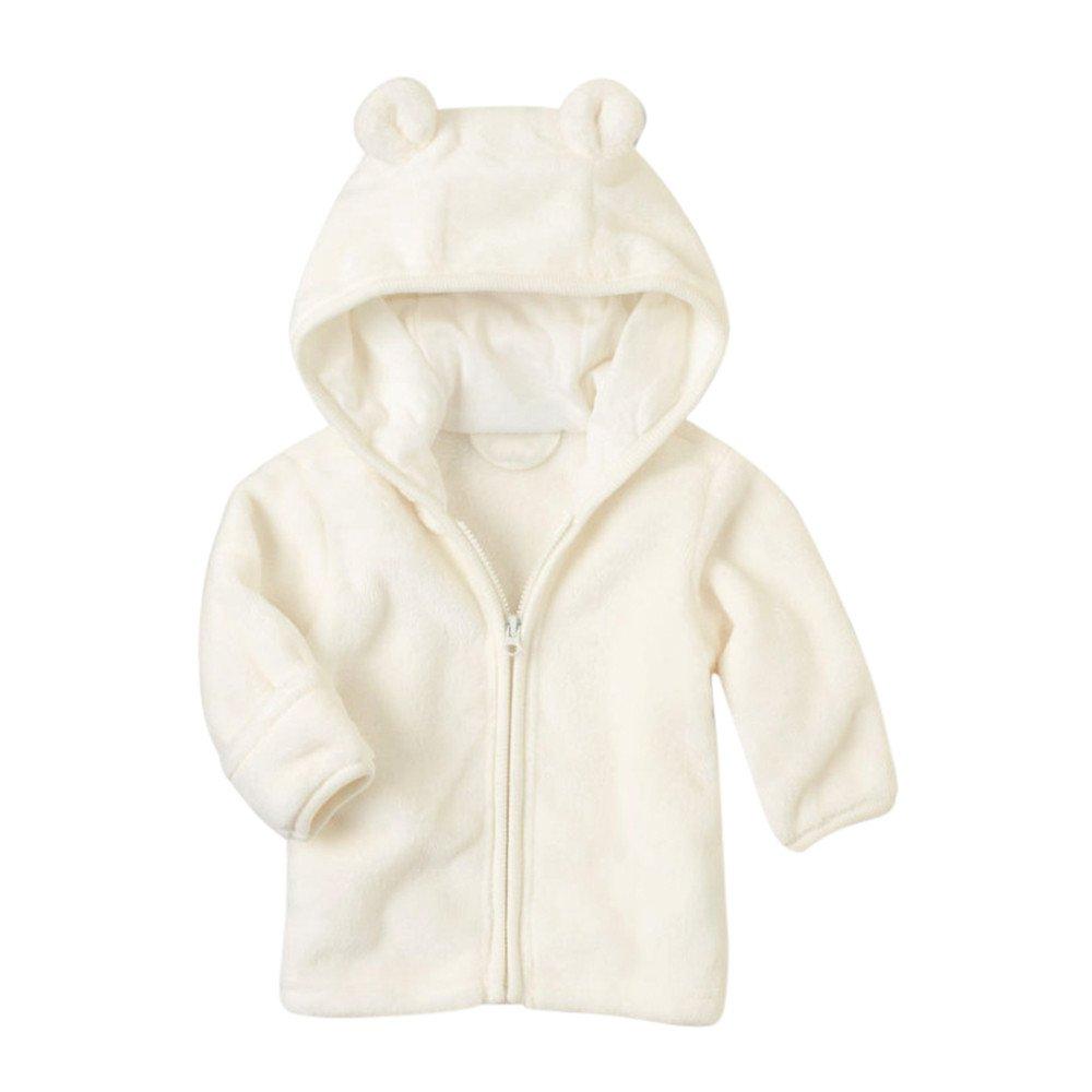 FOANA Toddler Baby Boys Girls Clothes Zipper Tops Coat Jackets Warm Outwear