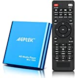 HDMI Media Player, Blue Mini 1080p Full-HD Ultra HDMI Digital Media Player for -MKV/RM- HDD USB Drives and SD Cards