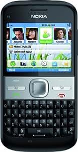"""Nokia E5-00 - Móvil libre (pantalla de 2,36"""" 320 x 240, 256 MB de capacidad, teclado QWERTZ, S.O. Symbian 9.3) color negro [importado de Alemania]"""