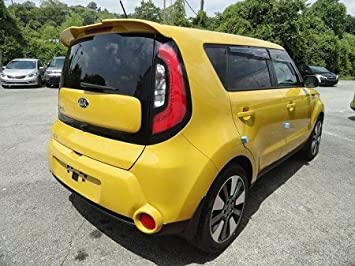 Accent Spoilers-Spoiler for a Kia Soul Factory Style Spoiler 2014-2017-Clear White Paint Code: UD / 1D