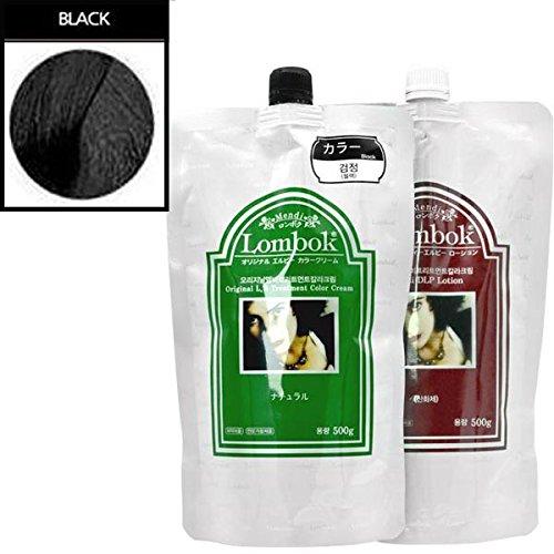 Gain Lombok Original LB Henna Hair Treatment Color Cream 6 Colors Pick one! (#01 Black) by LOMBOK