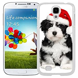 New Beautiful Custom Designed Cover Case For Samsung Galaxy S4 I9500 i337 M919 i545 r970 l720 With Warm Christmas Dog (2) Phone Case